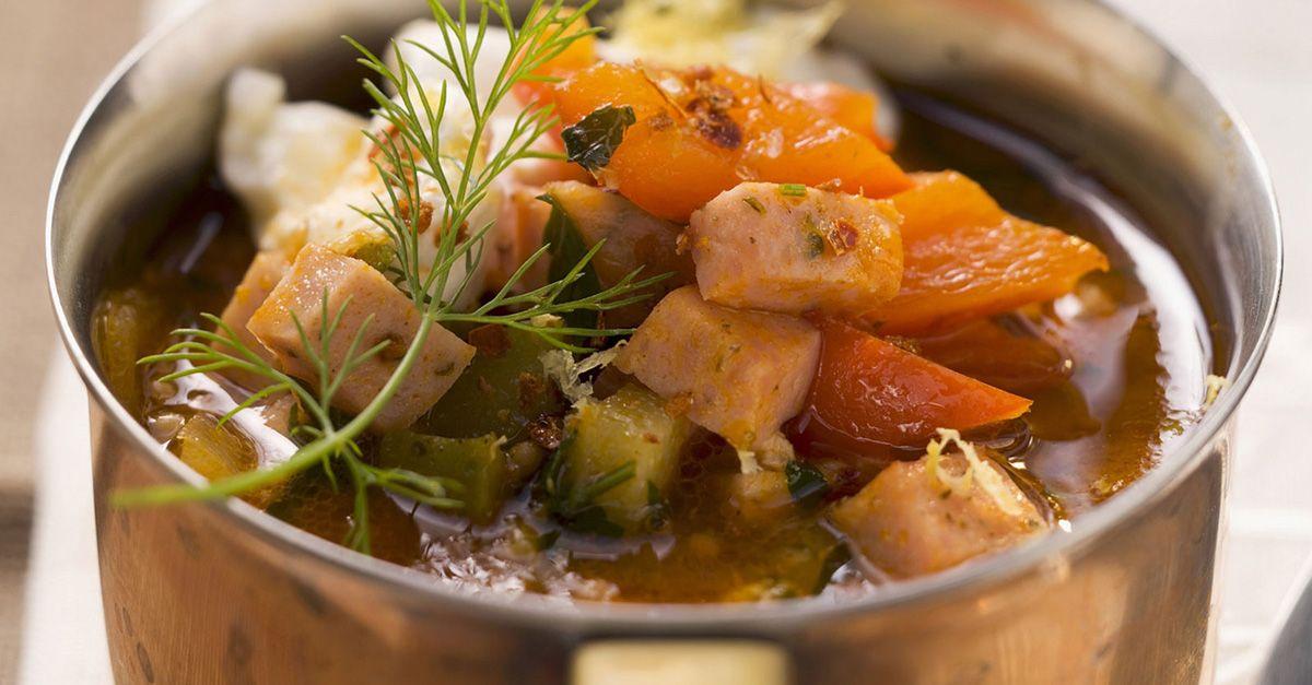 Gemüsesuppe dient zum Abnehmen