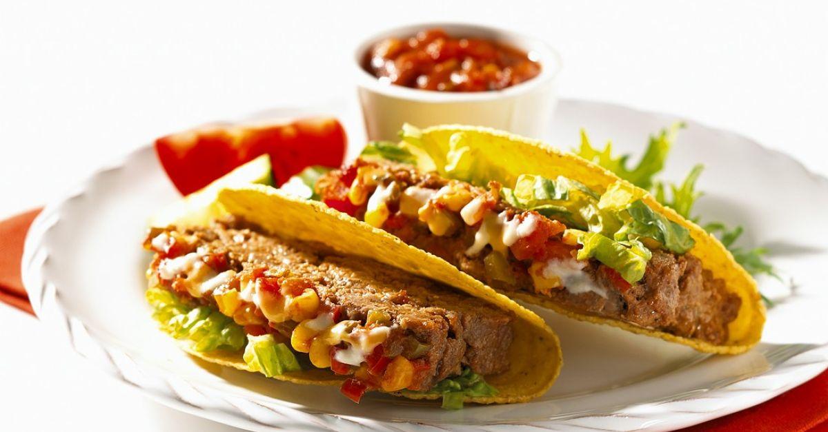 taco shells mit hackbraten gef llt rezept eat smarter. Black Bedroom Furniture Sets. Home Design Ideas