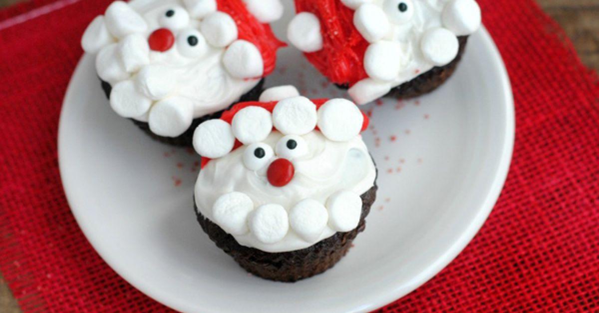 zuckers e weihnachtsmann cupcakes eat smarter. Black Bedroom Furniture Sets. Home Design Ideas