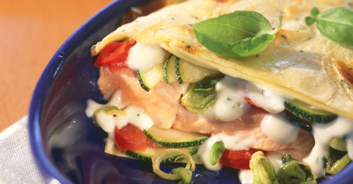 zucchini lachs lasagne rezept eat smarter. Black Bedroom Furniture Sets. Home Design Ideas