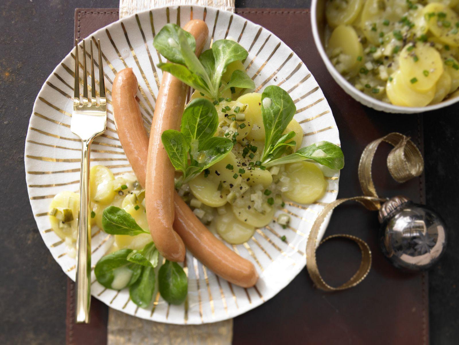 Weihnachtsessen Kalorienarm.Bayerischer Kartoffelsalat