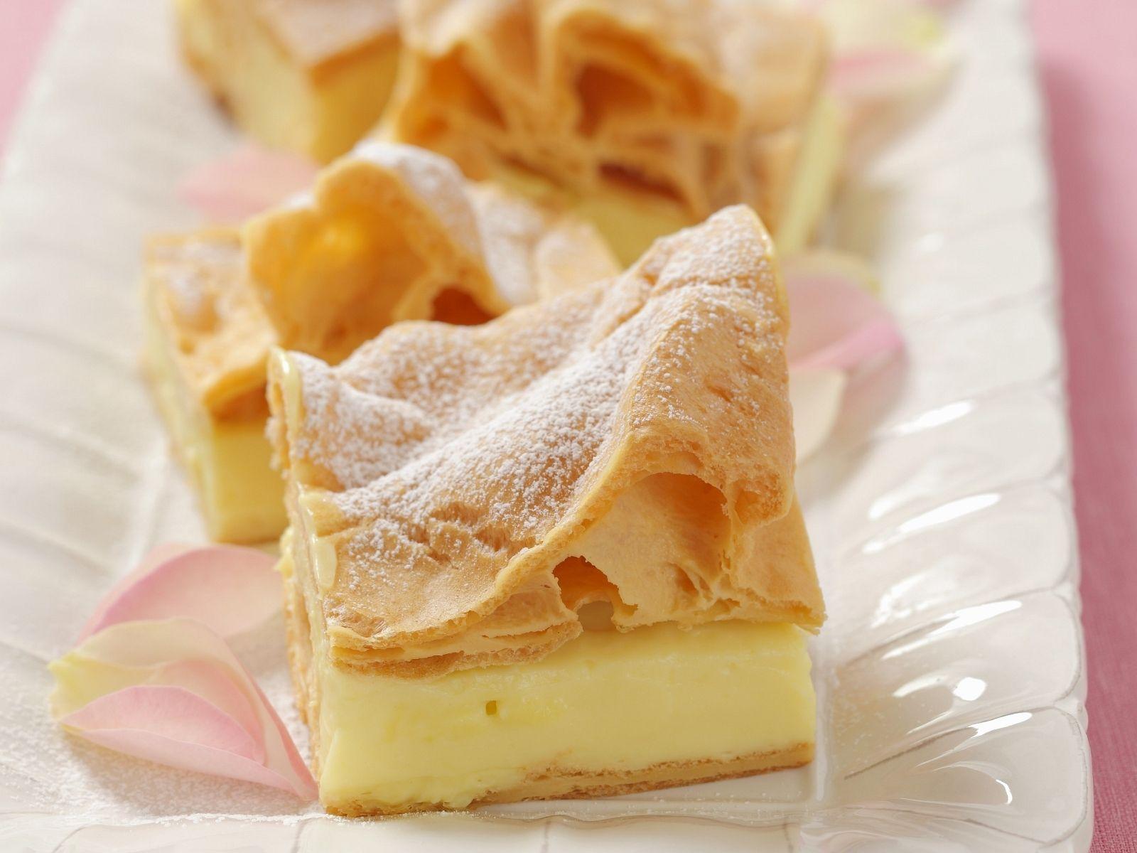 Blatterteigkuchen Mit Vanillepudding Auf Polnische Art Rezept Eat