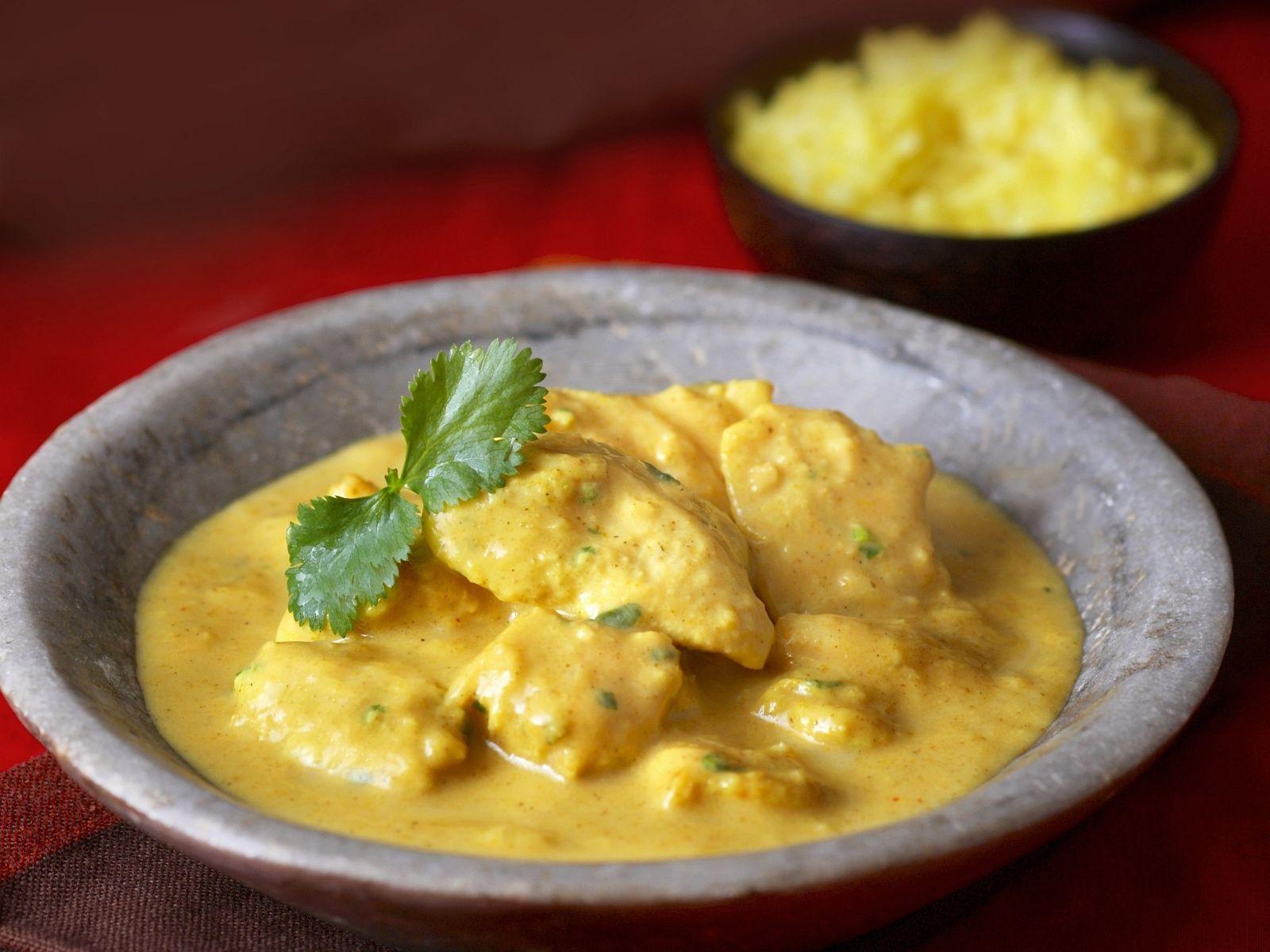 Curryhähnchen Auf Indische Art Chicken Korma