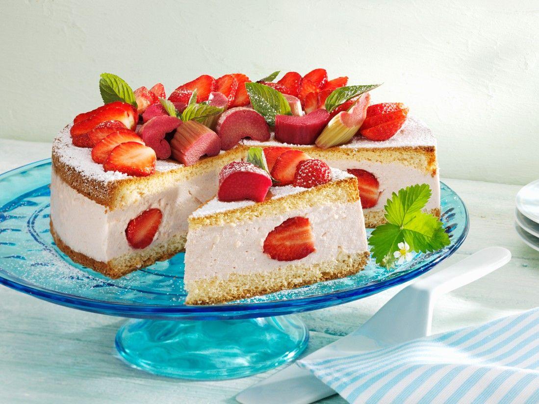 Erdbeer Rhabarber Torte Rezept Eat Smarter