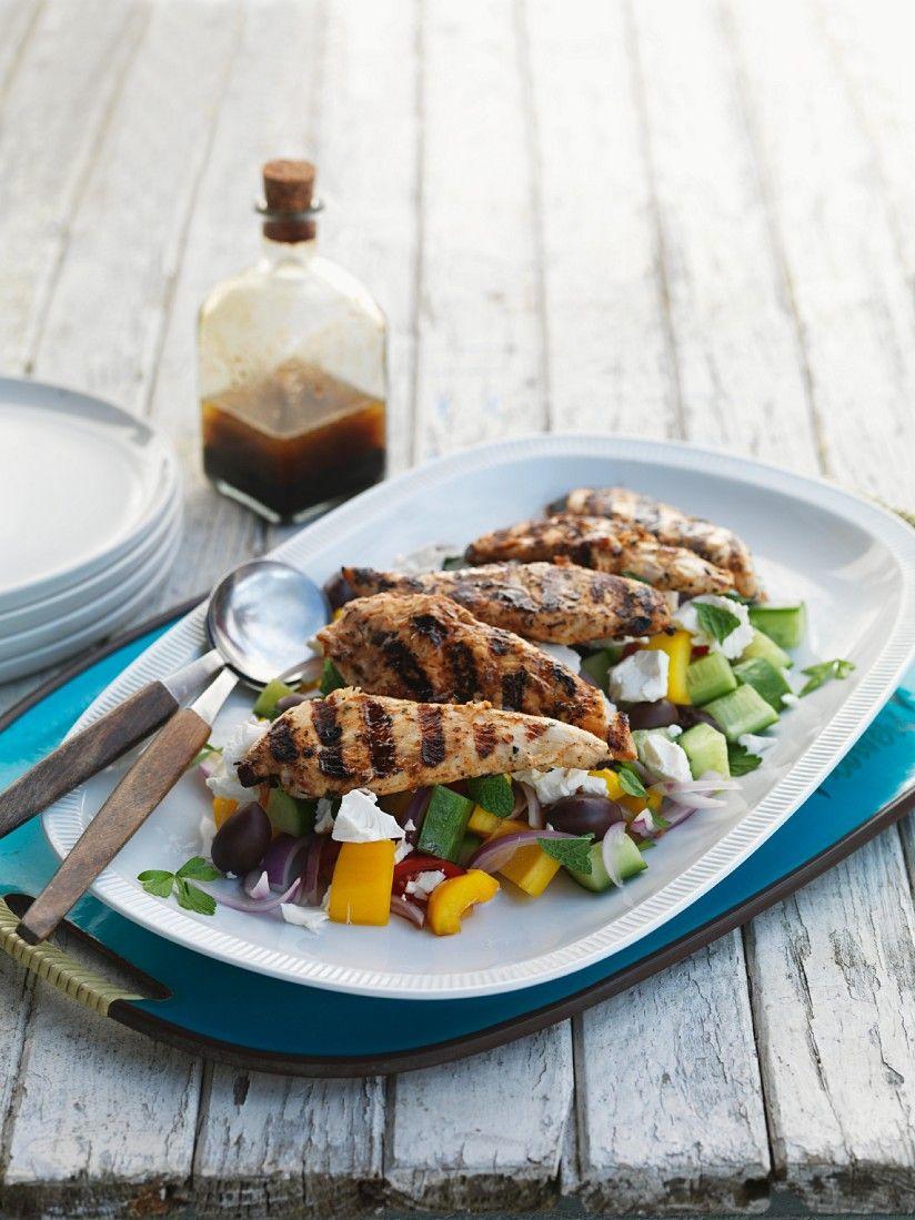 Griechischer salat hahnchen