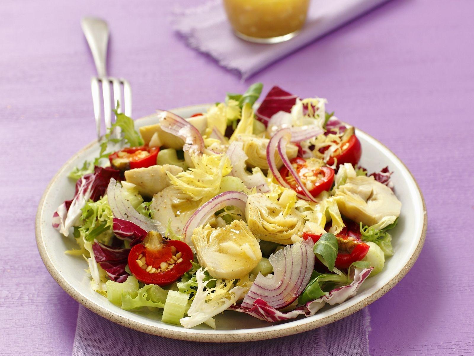 Rezept gruner salat zitronendressing