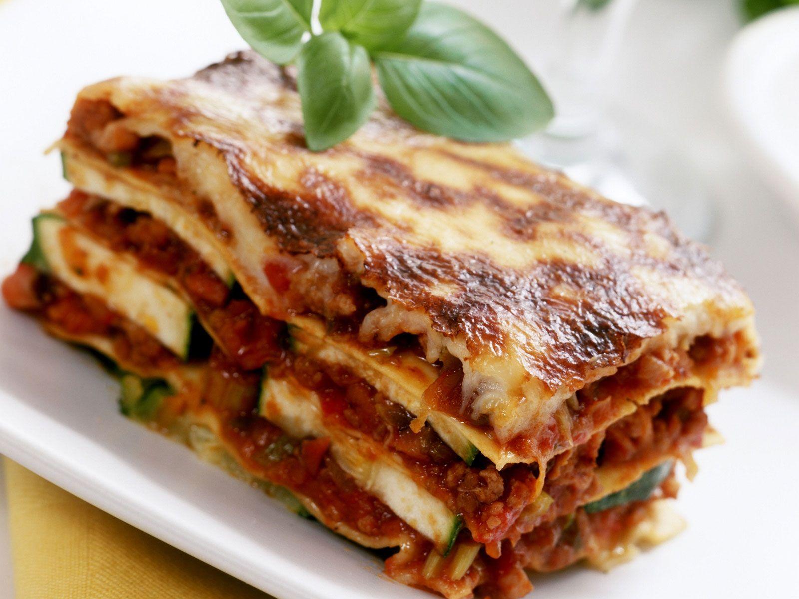 Hackfleisch Zucchini Lasagne