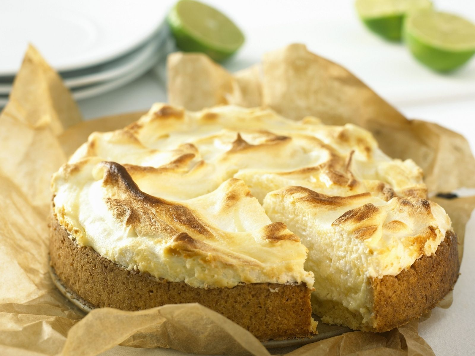 Limetten Baiser Kuchen Rezept Eat Smarter