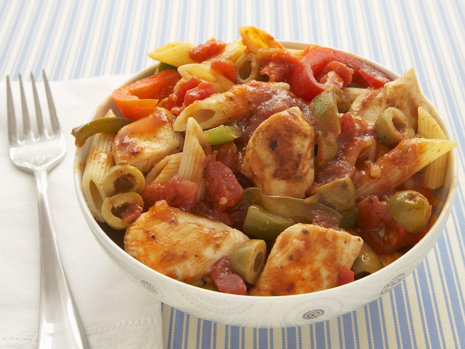 Ganz und zu Extrem Nudeln mit Hähnchen-Tomaten-Soße und Paprika Rezept   EAT SMARTER @OQ_93