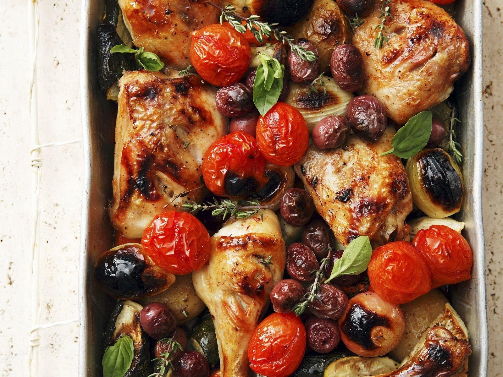 Ofen Hähnchen Mit Gemüse Rezept Eat Smarter