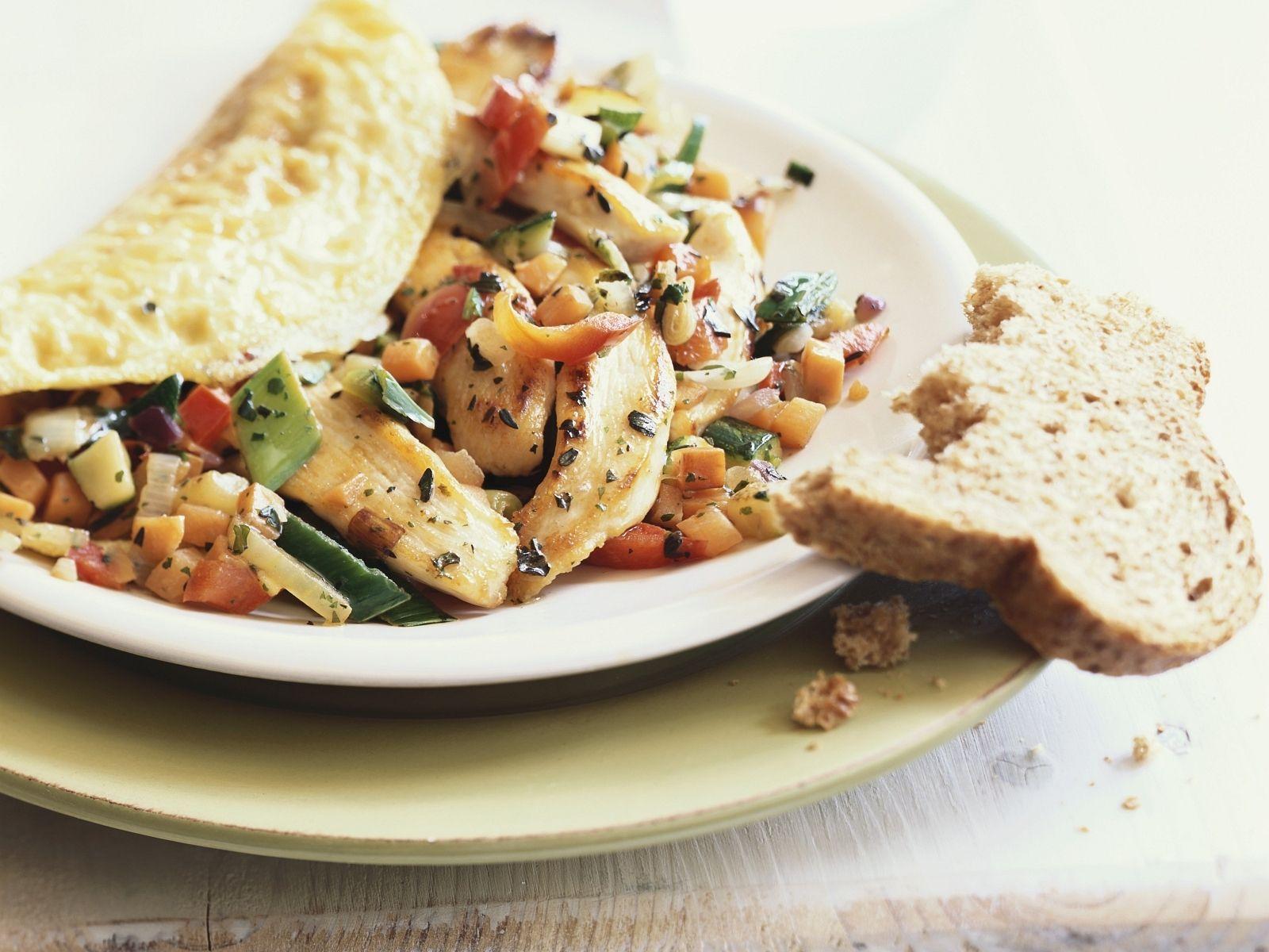 Rezept Für Omelett omelett mit hähnchen gemüse füllung rezept eat smarter