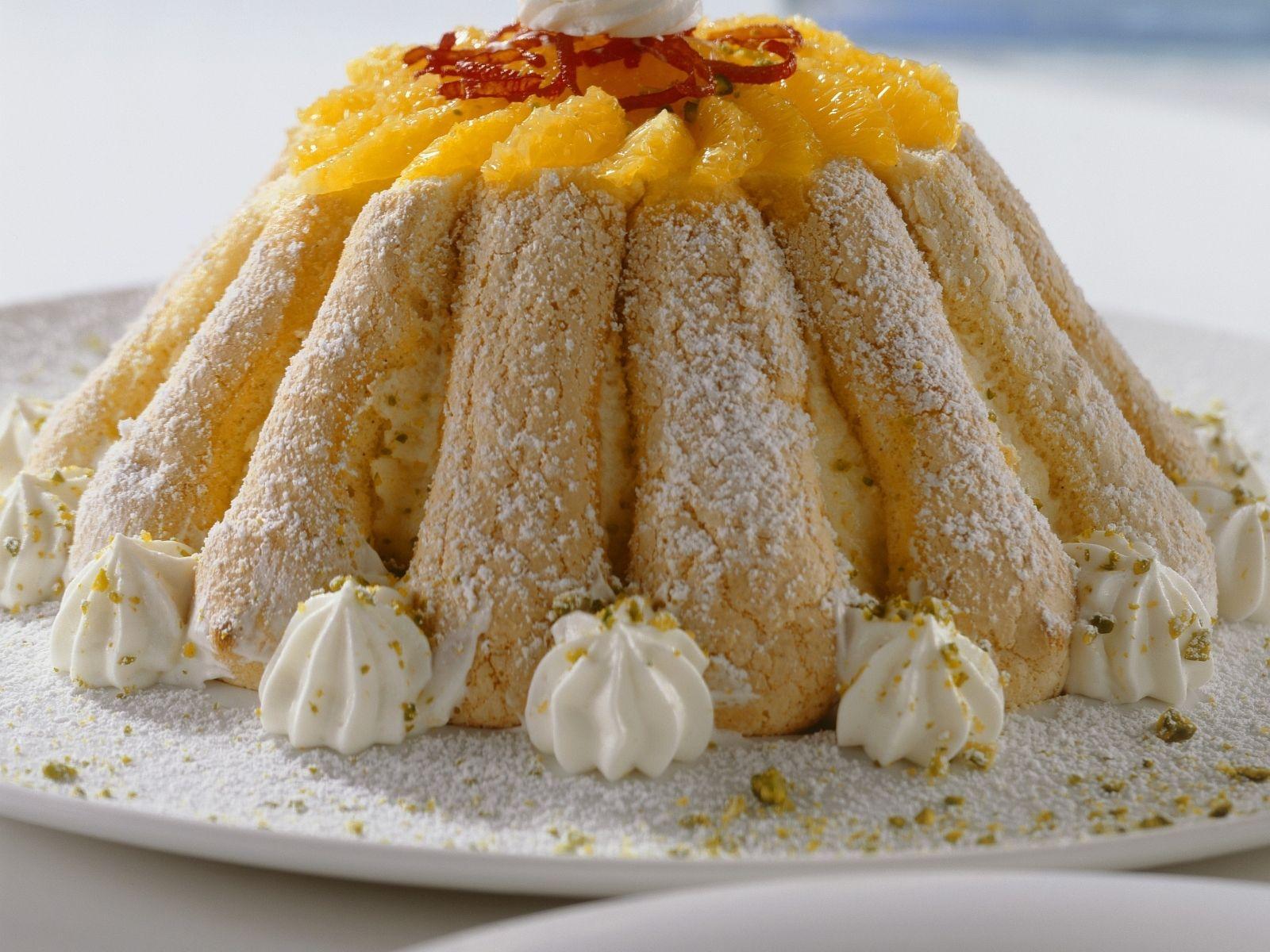 Orangen Loffelbiskuit Torte
