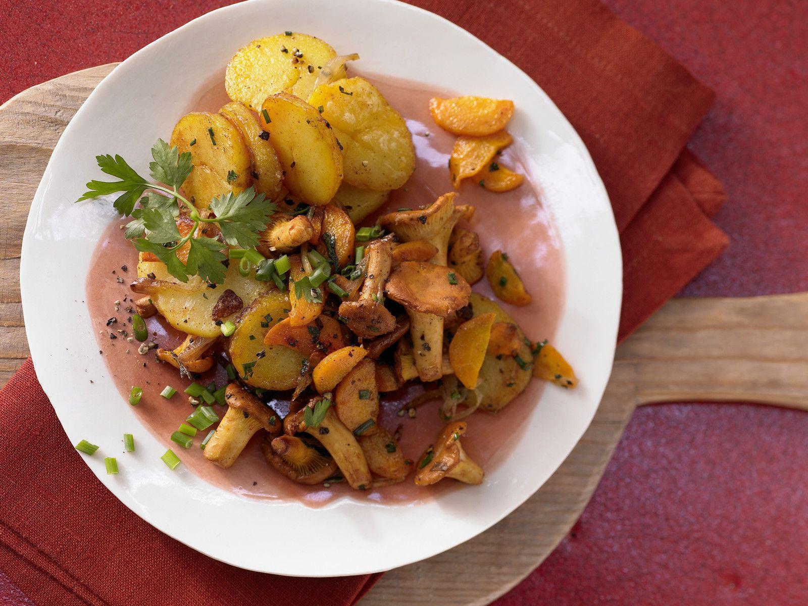 Schnelle vegane küche  Pfifferling-Gröstl Rezept | EAT SMARTER