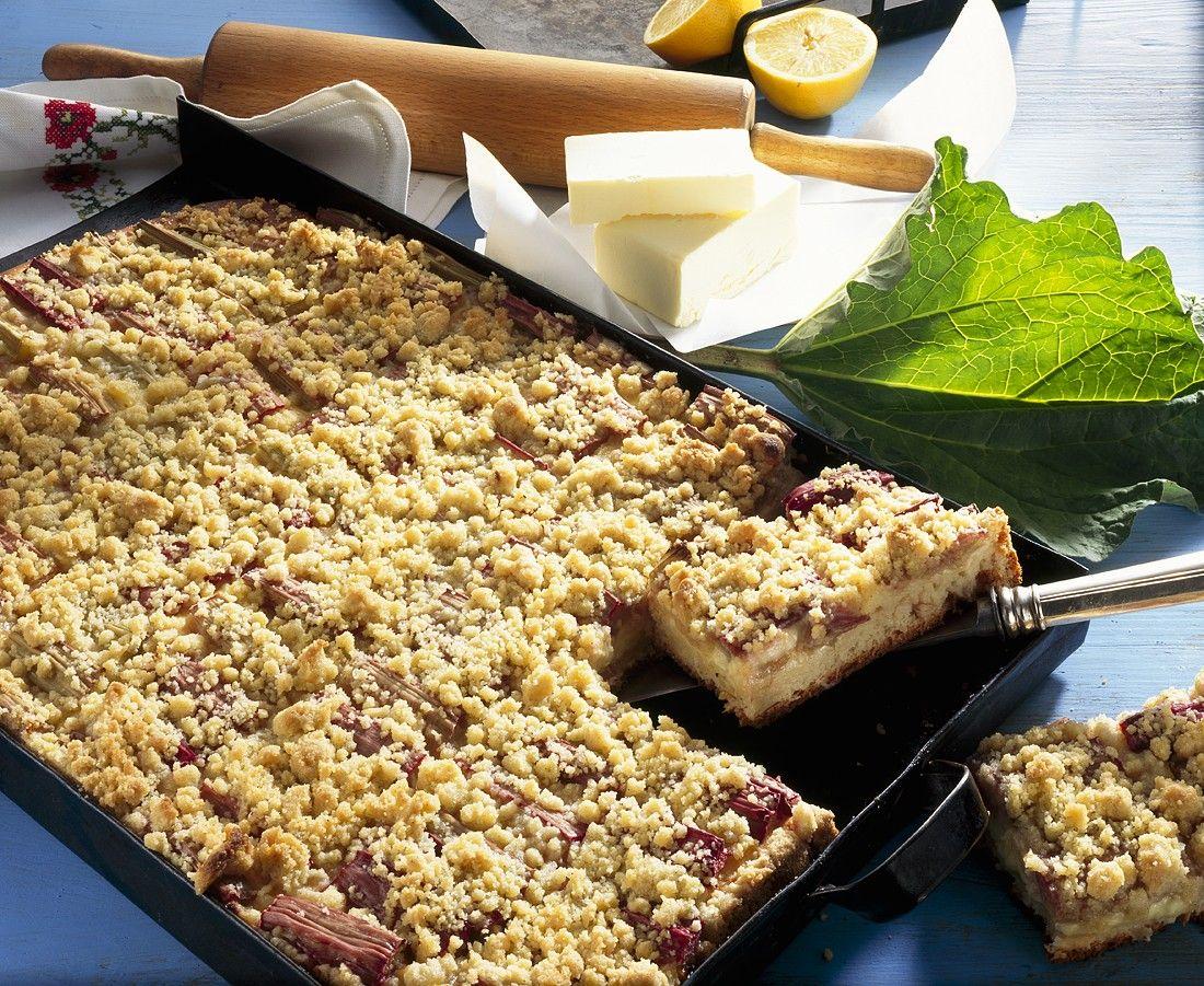 Rhabarber Streuselkuchen Rezepte Eat Smarter