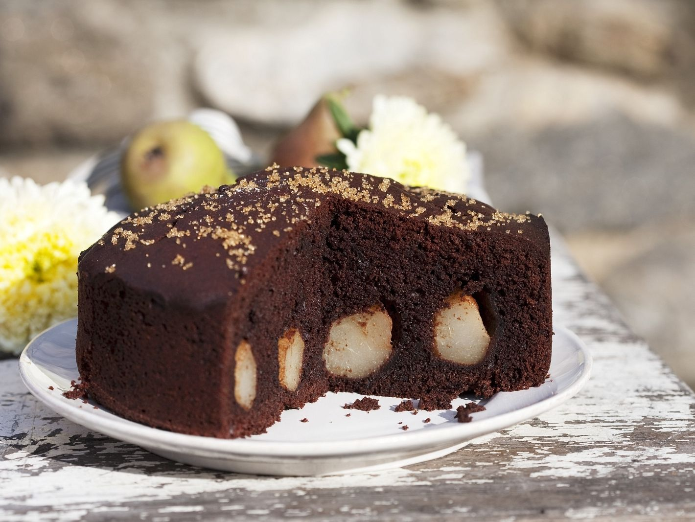 Schokoladen Birnen Kuchen Rezept Eat Smarter