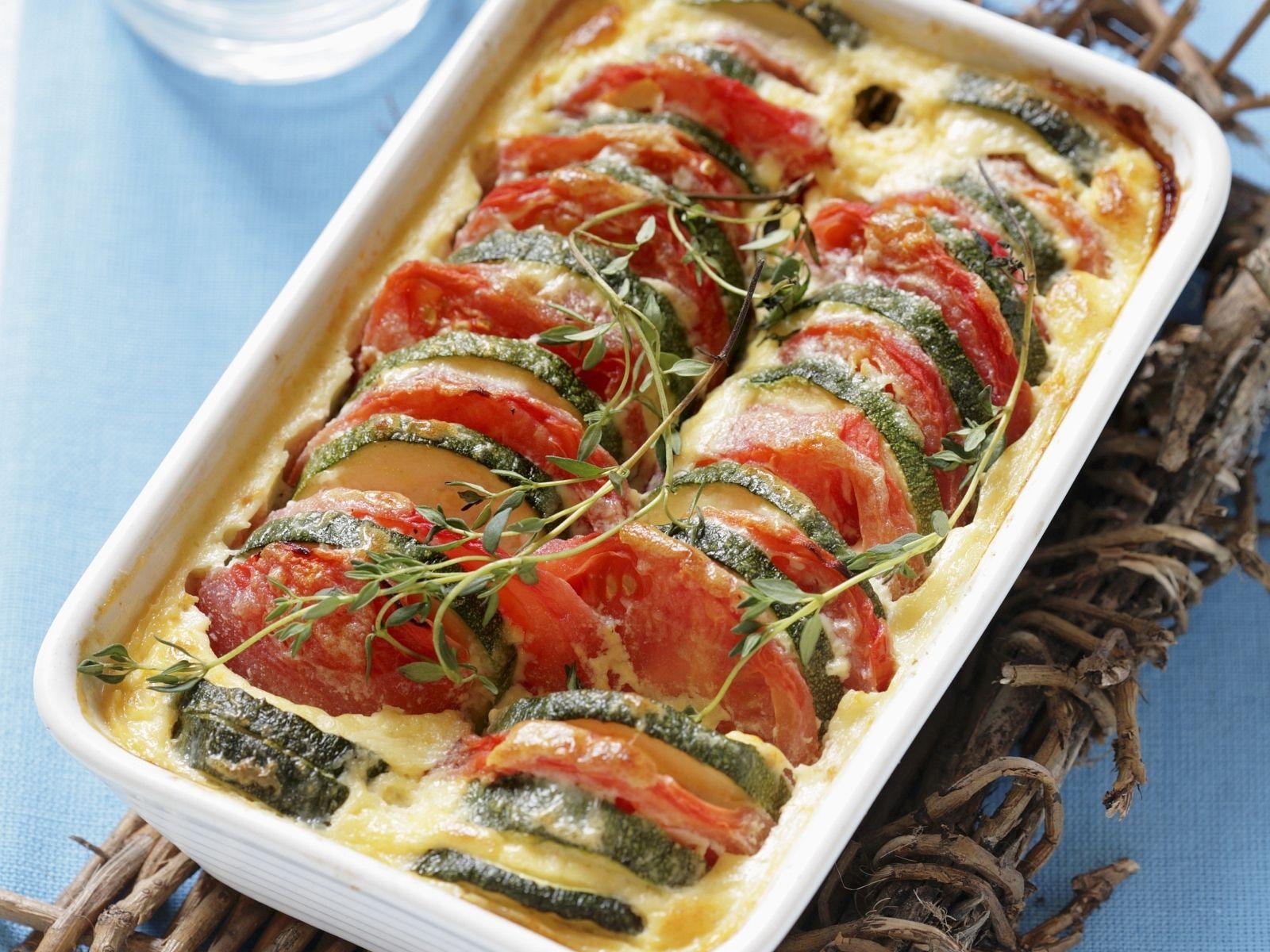 Kochrezept zucchini gratin