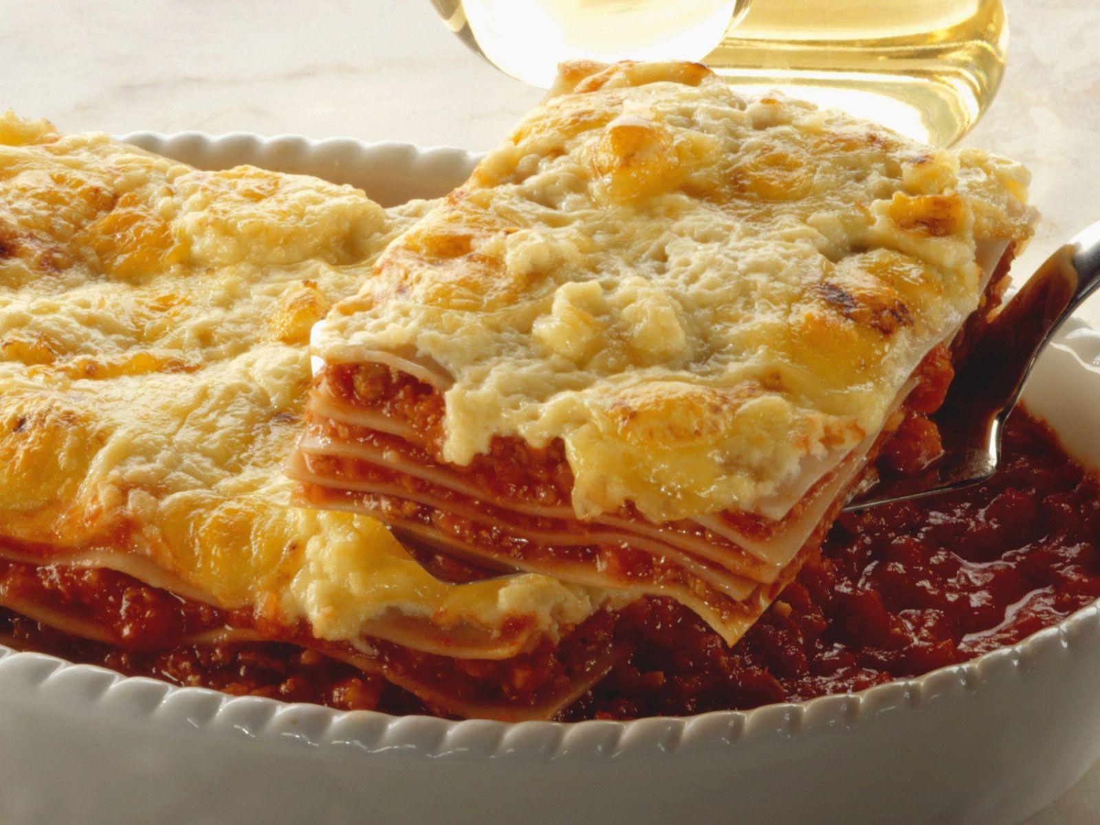 Vegetarische Lasagne mit gegrilltem Gemüse