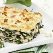 Kochbuch für Spinat-Lasagne
