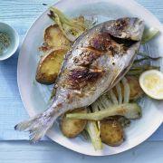 Weihnachtsessen mit Fisch