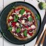 Brokkoli-Pizza mit Pilzen und Blauschimmelkäse Rezept
