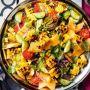 Salat mit gebratenem Mais, Melone und Gurke Rezept