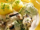 Aal mit Kräutersauce Rezept
