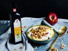 Apfel-Quark-Bowl mit Leinöl und Walnüssen Rezept