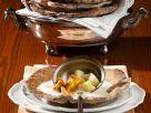 Apfel-Wein-Suppe mit Pfifferlingen Rezept