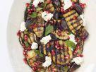 Aubergine vom Grill mit Mozzarella und Granatapfel Rezept