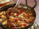 Auberginengemüse mit Linsen und Kürbis Rezept