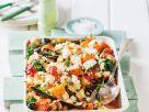 Auflauf mit Kürbis, Zucchini, Champignons, Spinat und Ricotta Rezept