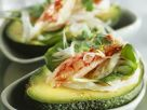 Avocado mit Garnelensalat gefüllt Rezept