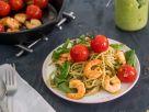 Avocado-Pasta mit Garnelen Rezept
