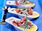 Baby-Aale mit Ibérico-Schinken auf Knoblauchmayonnaise Rezept