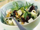 Bandnudeln mit Gemüse und Feta Rezept
