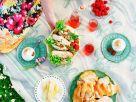 Belegte Brötchen mit Blauschimmelkäse und Nüssen Rezept