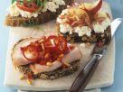 Belegte Brote mit Hüttenkäse und Putenbrust Rezept