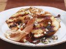 Birne vom Grill mit Blauschimmelkäse und Schinken Rezept