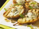 Birnen mit Blauschimmelkäse, Nüssen und Honig Rezept