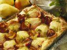 Birnenkuchen mit Zwetschgen Rezept