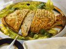 Blätterteig gefüllt mit Fisch und Ei Rezept