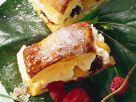 Blätterteig mit Vanillecreme und Beeren gefüllt Rezept