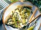 Blätterteig-Peperonipizza mit Schafskäse Rezept