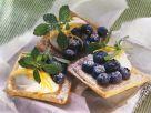Blätterteigschnitten mit Blaubeeren Rezept