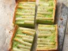 Blätterteigtarte mit Spargel und Erbsen Rezept