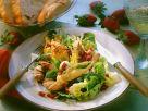 Blattsalat mit Erdbeeren, Mozzarella und Salbei Rezept