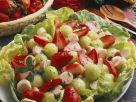 Blattsalat mit Früchten und Palmherzen Rezept