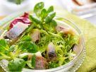 Blattsalat mit Hering Rezept