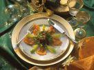Blattsalat mit Lachsforelle Rezept