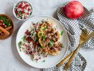 Blumenkohlsteaks mit Haselnuss-Käse-Crunchy mit gezimtem Reis Rezept